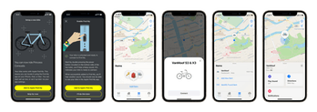 A screenshot of VanMoof's integration into Find My network by Apple. It lets users find their S3 and X3 bikes through the app.