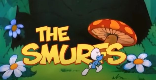 The Smurfs is an animated cartoon that aired in the 80's.