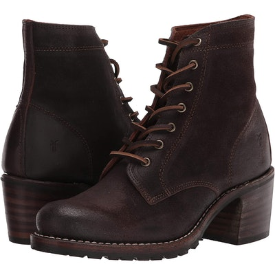 Frye Sabrina Lace-Up Combat Boots
