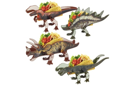 Funwares Dinosaur Taco Holder Set (4-Pack)