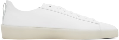 White Tennis Court Low Sneakers