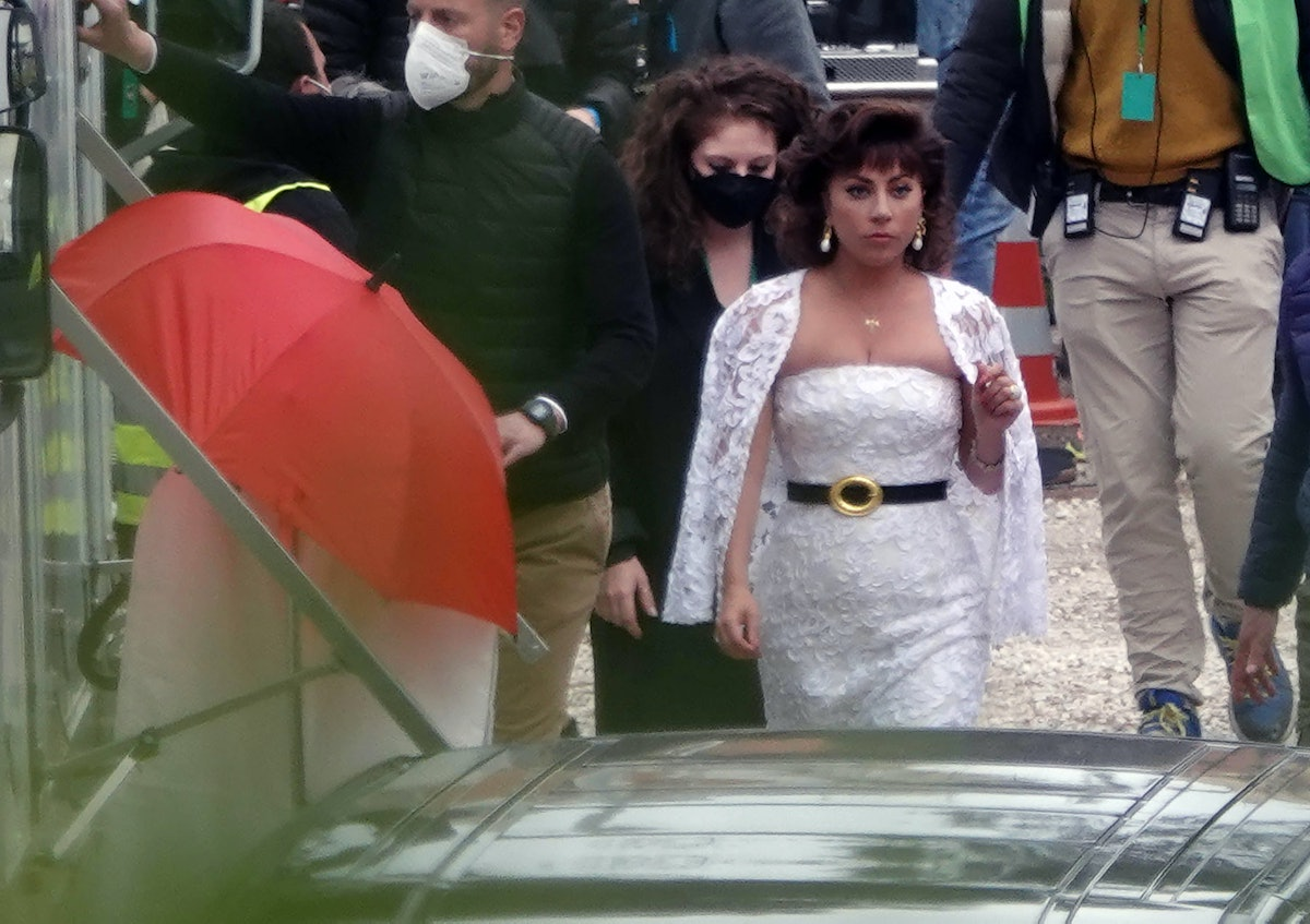 Lady Gaga filming House of Gucci