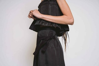 Marcy Pleated Top