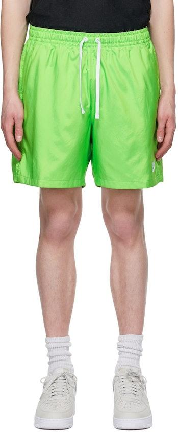Nike Green Woven Shorts