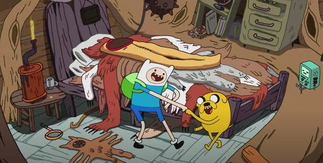 Adventure Time is a show that aired on Cartoon Network.