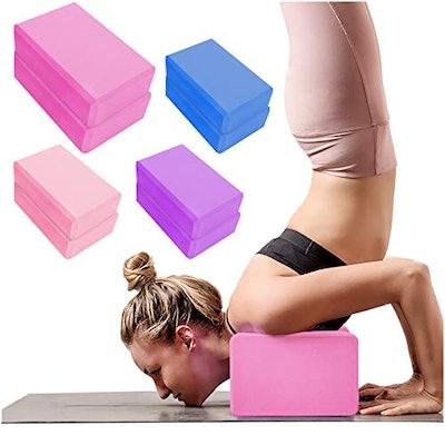 YHmall 2 Pack Yoga Blocks High Density EVA Foam Brick