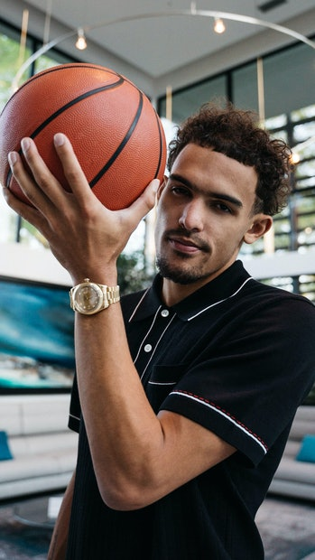 Basketball player Trae Young
