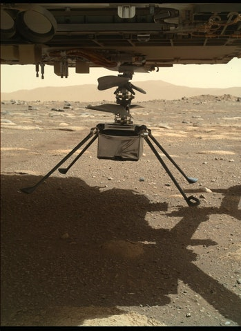 ingenuity copter on mars