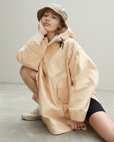An Everlane Poncho from its ReNew Collection.