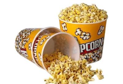 Retro Style Plastic Popcorn Containers (3 Pieces)