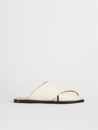 Alicia Ice White Flat Sandals