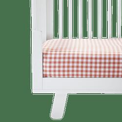 Cotton Gingham Crib Sheet