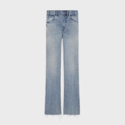Dylan Flared Jeans In Vintage Stone Denim Indigo