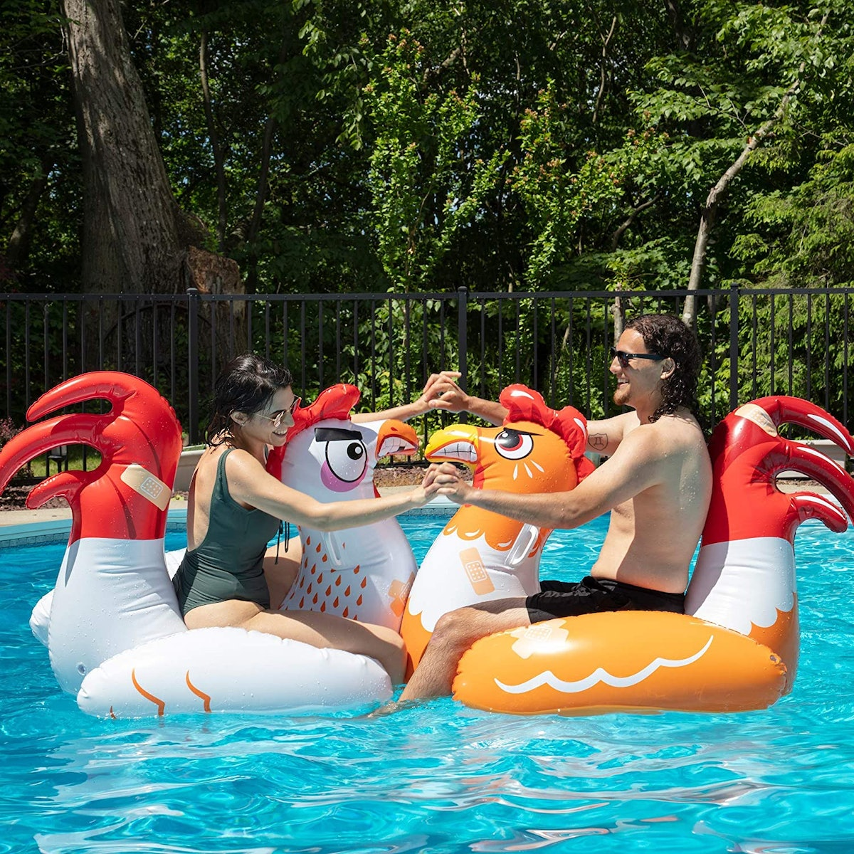 SCS Direct Chicken Fight Pool Float Game (Set Of 2)