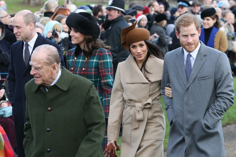 Prince Philip, Meghan Markle and Prince Harry attend Christmas Day Church service at Church of St Ma...