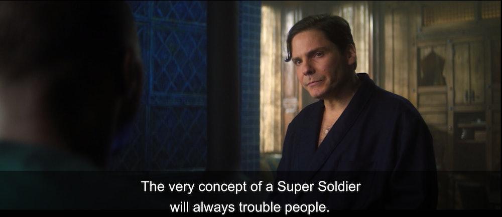 Falcon and Winter Soldier corrupt super soldier serum John Walker
