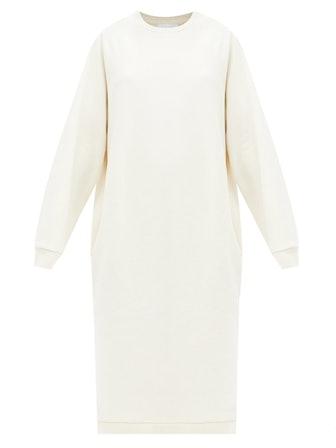 Recycled-Yarn Cotton-Blend Sweatshirt Dress