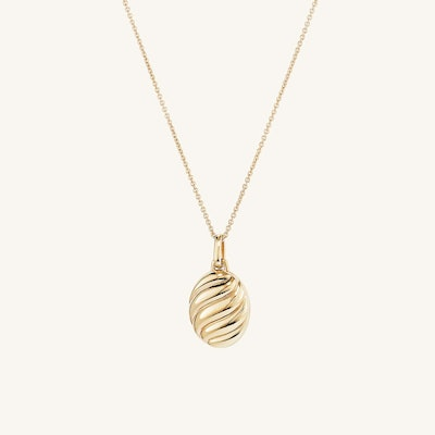 Croissant Oval Locket Necklace