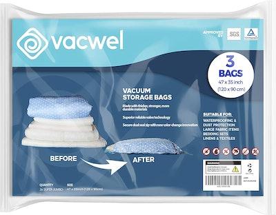 Vacewel Jumbo XXL Vacuum Storage Bags (3-Pack)