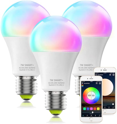 MagicLight Smart Color-Changing Light Bulbs (3-Pack)