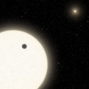 planet transiting star in triple star system