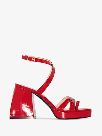 Red Bulla Siler 85 Patent Leather Sandals