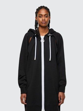 D-Akron Cut-Out Hoodie Dress