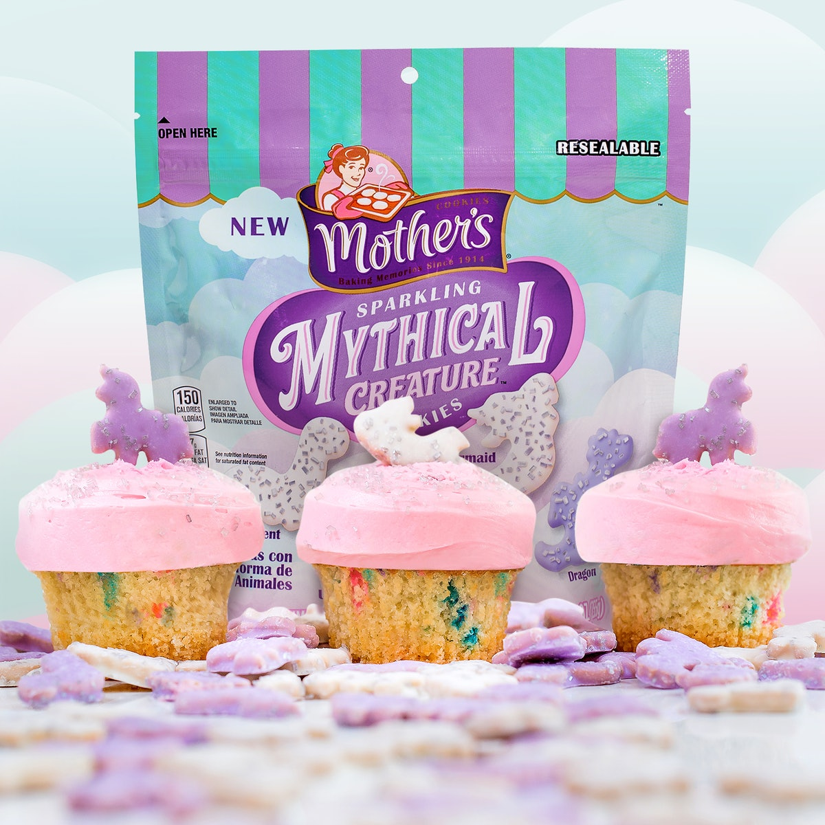 Mother's Sparkling Mythical Creature cookies exist, and they're shaped like unicorns.