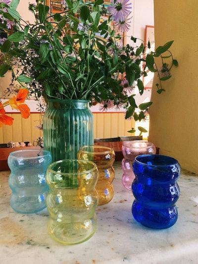 Bubble Water Glass Fiesta