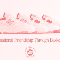 New Balance's 550 'Aimé Leon Dore' sneaker is vintage basketball gold