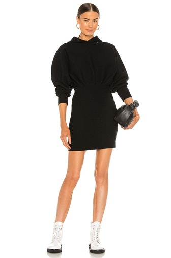 Tailored Knit Hoodie Dress