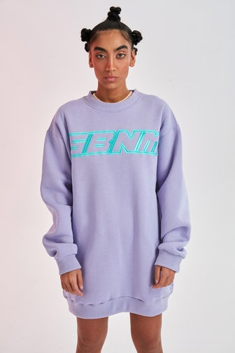 Purple Sweatshirtdress