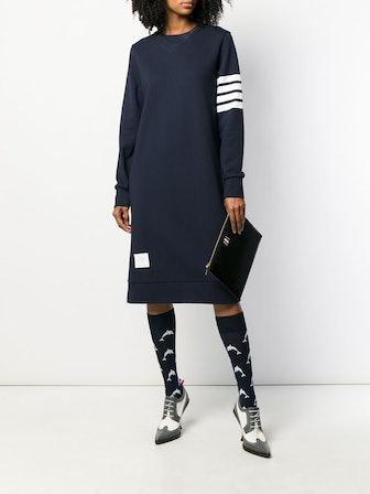 4-Bar Loopback Sweatshirt Dress