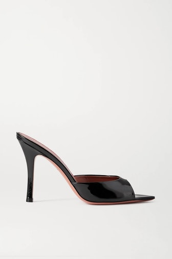 Caroline Patent-Leather Mules