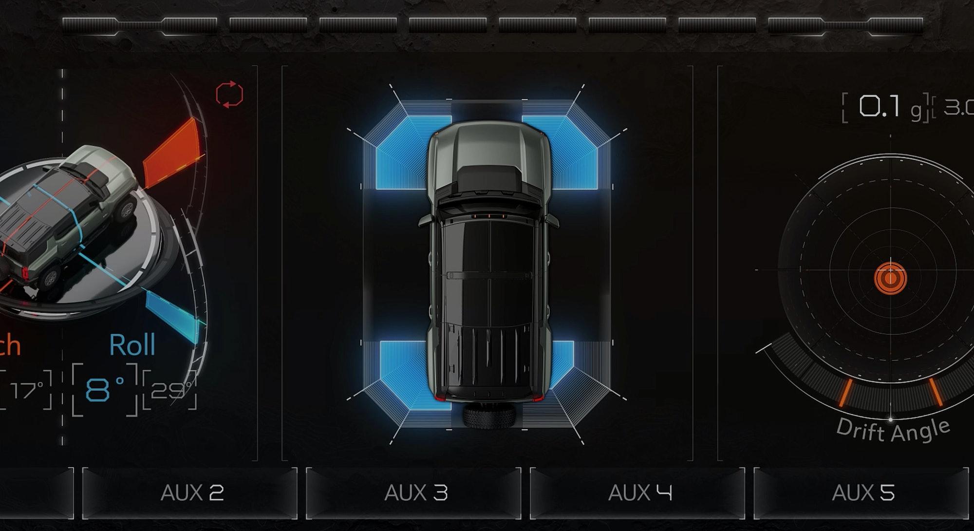 The Perception Hummer SUV UI design