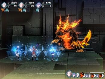 fantasian rpg combat battle fire