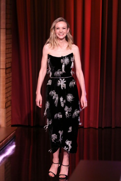 Carey Mulligan in Markarian for the Tonight Show With Jimmy Fallon.