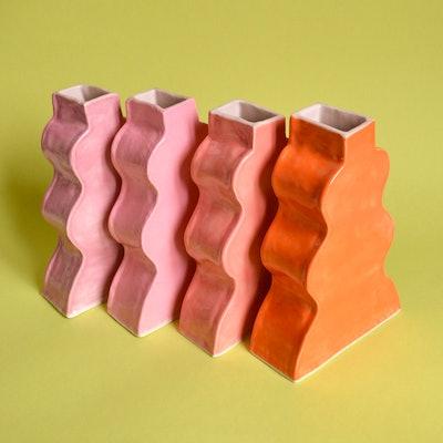 Handmade Ceramic Wavy Vase