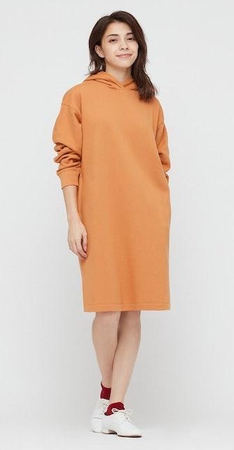 Sweat Long-Sleeve Hoodie Dress