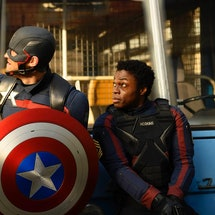 John Walker used the super-soldier serum for violent revenge on 'Falcon and the Winter Soldier.' Photo via Marvel