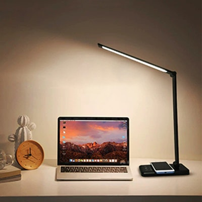 JOSTIC Desk Lamp with Wireless Phone Charger