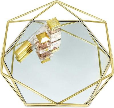 Craft & Kin Gold Mirror Tray