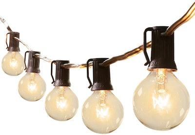 Brightown G40 Outdoor Patio Globe String Lights (50-Feet)