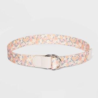 Fable Floral Print Web Belt