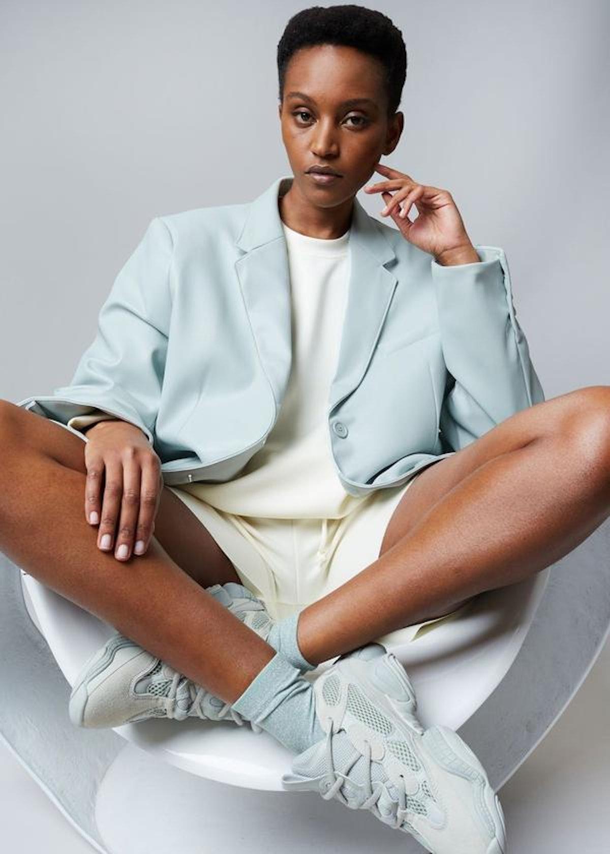 Agnes Faux Leather Blazer