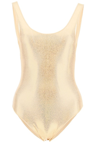 Oséree One Piece Swimsuit Metallic Sporty Maillot