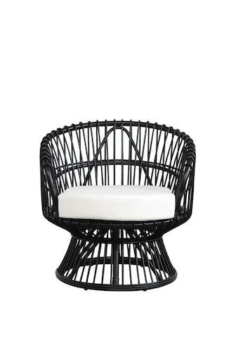 Handmade Black Rattan Chair