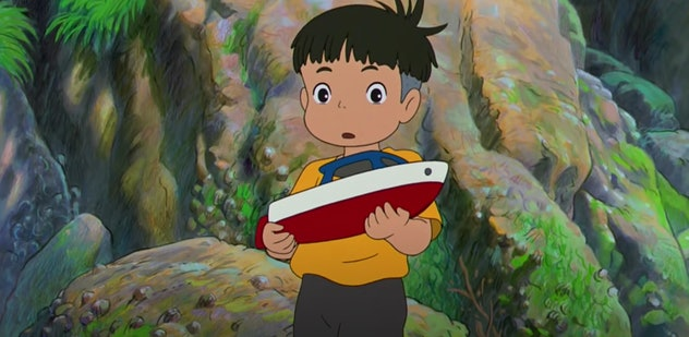 'Ponyo' is about a goldfish princess who meets a young boy.