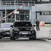 Photos show Porsche's Tesla Model Y killer in public for the first time