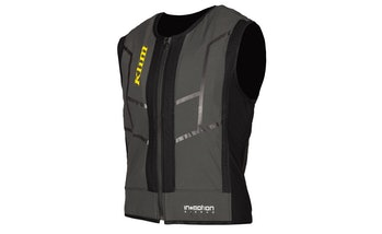 """The Klim Ai-1 is a motorcycle vest that features built in """"smart airbags."""" Klim offers the vest through a monthly subscription."""